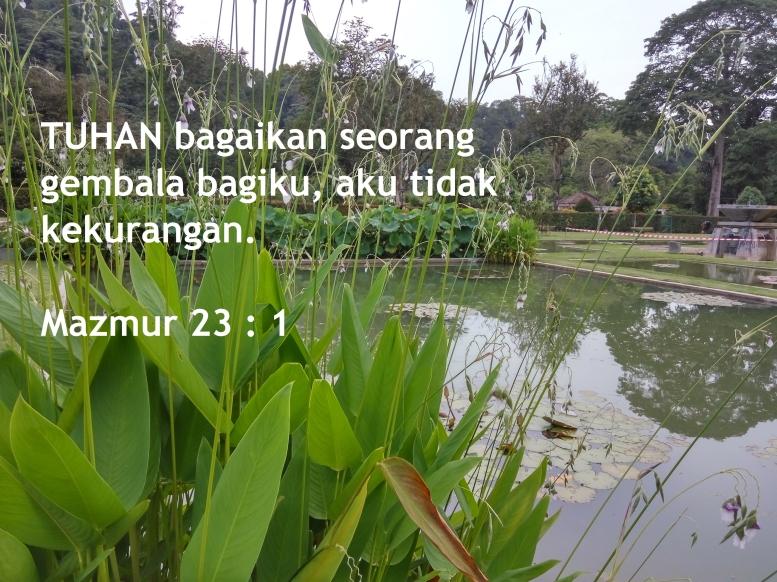 TUHAN bagaikan seorang gembala Mazmur 23